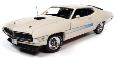 AMERICAN MUSCLE 1/18scale 1971 Ford Torino (Class of 1971) Wimbleton White  [No.AMM1256]