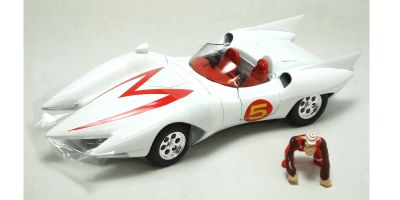 AMERICAN MUSCLE 1/18scale Speed Racer Mach 5 WHITE / RED [No.AMM971]