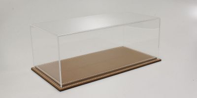 ATLANTIC CASE 1/18scale Maranello flat leather base (light / brown) & acrylic case  [No.ATL10011]