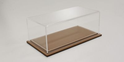 ATLANTIC CASE 1/24scale Maranello flat leather base (light / brown) & acrylic case  [No.ATL10021]