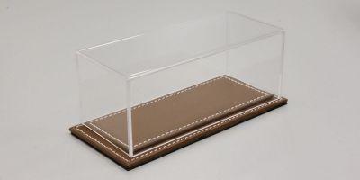 ATLANTIC CASE 1/43scale Maranello flat leather base (light / brown) & acrylic case  [No.ATL10031]