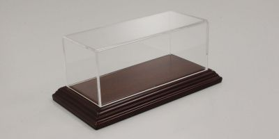 ATLANTIC CASE 1/43scale Aichi narrow edge wood base (mahogany / brown) & acrylic case  [No.ATL10051]