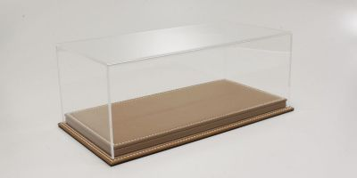ATLANTIC CASE 1/18scale Mulhouse Raised Leather Base (Thick / Brown) & Acrylic Case  [No.ATL10071]
