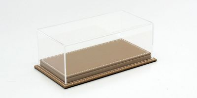 ATLANTIC CASE 1/24scale Mulhouse Raised Leather Base (Thick / Brown) & Acrylic Case  [No.ATL10077]