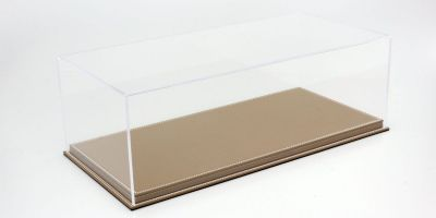 ATLANTIC CASE 1/12scale Mulhouse Raised Leather Base (Thick / Brown) & Acrylic Case  [No.ATL10090]