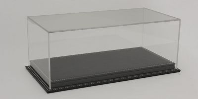 ATLANTIC CASE 1/18scale Mulhouse Raised Leather Base (Thick / Gray) & Acrylic Case  [No.ATL10115]