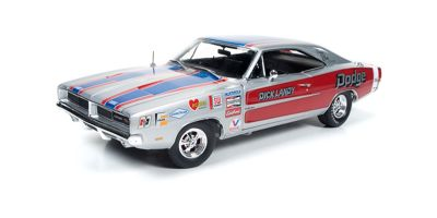AMERICAN MUSCLE 1/18scale 1969 Dodge Charger R / T (Dick Landy) Silver  [No.AW228]