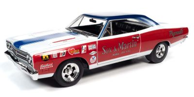 AUTO WORLD 1/18scale 1969 Sox & Martin Plymouth Roadrunner (LOTQM) Red/White/Blue  [No.AW276]