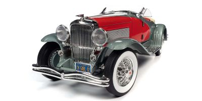 AUTO WORLD 1/18scale 1935 Duesenberg SSJ Silver/Red  [No.AW279]