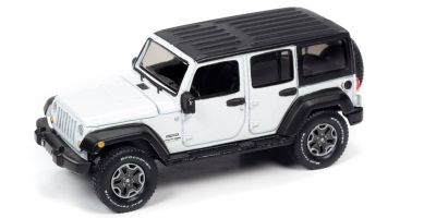 AUTO WORLD 1/64scale 2018 Jeep Wrangler JK Gloss White / Flat Black  [No.AW64262A2W]