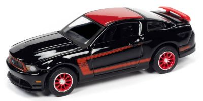 AUTO WORLD 1/64scale 2012 Ford Mustang Boss 302 Laguna Seca Gross Black  [No.AW64262A6BK]