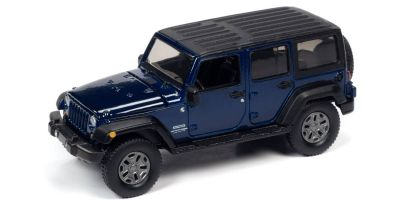 AUTO WORLD 1/64scale 2018 Jeep Wrangler JK Blue / Flat Black  [No.AW64262B2BL]