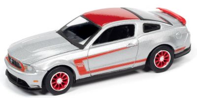 AUTO WORLD 1/64scale 2012 Ford Mustang Boss 302 Laguna Seca Silver / Red  [No.AW64262B6SV]