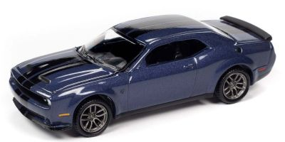 AUTO WORLD 1/64scale 2019 Dodge Challenger Hellcat Dark Blue / Black Stripe  [No.AW64272A3BL]
