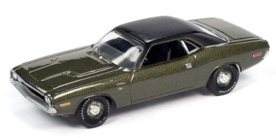 AUTO WORLD 1/64scale 1970 Dodge Challenger R / T F8 Dark Green / Flat Black  [No.AW64272A4DG]