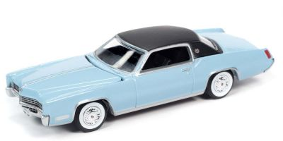 AUTO WORLD 1/64scale 1967 Cadillac Eldorado Venetian Blue / Flat Black  [No.AW64272B1BL]