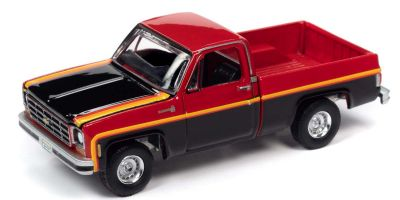 AUTO WORLD 1/64scale 1979 Chevy Scottsdale Red / Black  [No.AW64272B2R]