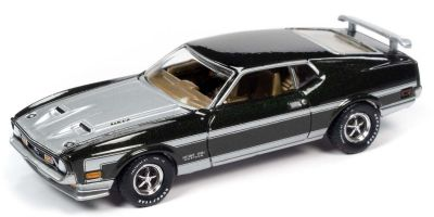AUTO WORLD 1/64scale 1971 Mustang Boss 351 Black / Silver  [No.AW64272B6BK]