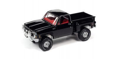 AUTO WORLD 1/64scale 1980 Chevy Custom Deluxe 10 Side Step Black  [No.AW64282A3BK]
