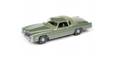 AUTO WORLD 1/64scale 1975 Cadillac Eldorado Partial Vinyl Top Green  [No.AW64282A5G]