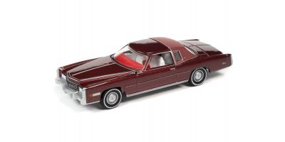 AUTO WORLD 1/64scale 1975 Cadillac Eldorado Partial Vinyl Top Red  [No.AW64282B5R]