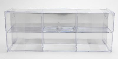 AMERICAN MUSCLE Interlocking 6cars Display case for 1/64  [No.AWDC003]