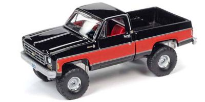 AUTO WORLD 1/64scale 1978 Chevy K10 (Black / Red)  [No.AWSP044A]