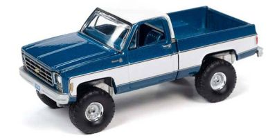 AUTO WORLD 1/64scale 1978 Chevy K10 (blue / white)  [No.AWSP044B]