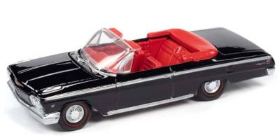 AUTO WORLD 1/64scale 1962 Chevy Impala SS Convertible (Gloss Black)  [No.AWSP045B]