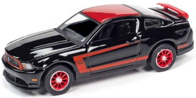 AUTO WORLD 1/64scale 2012 Ford Mustang Boss 302 (Black / Red)  [No.AWSP046A]