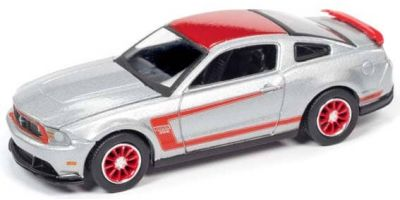 AUTO WORLD 1/64scale 2012 Ford Mustang Boss 302 (Silver / Red)  [No.AWSP046B]