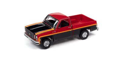 AUTO WORLD 1/64scale 1979 Chevrolet C10 Scottsdale Red / Black  [No.AWSP048B]