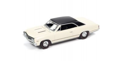 AUTO WORLD 1/64scale 1967 Chevy Chevelle SS Capri Cream / Black Roof  [No.AWSP051B]