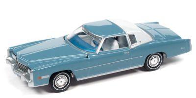 AUTO WORLD 1/64scale 1975 Cadillac Eldorado Jennifer Blue / White  [No.AWSP070B]