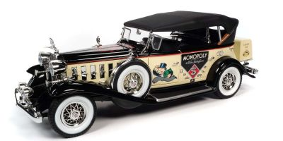 AMERICAN MUSCLE 1/18scale 1932 Cadillac V16 Phaeton Mr. Monopoly Cream / Black (with figure)  [No.AWSS127]