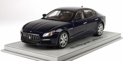 BBR 1/18scale Maserati Quattro Porte MY17 GranLusso 2015 Blue Passion with Case  [No.BBRC1821AV]