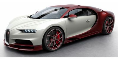 MR Collection 1/18scale Bugatti Chiron Red Carbon/Glacier  [No.BUG06E]