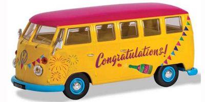 """CORGI 1/43scale VW Camper van """"Congratulations""""  [No.CGCC02736]"""