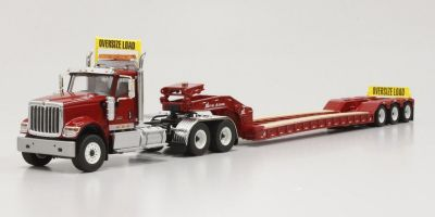 DIECAST MASTERS 1/50scale International HX520 Tandem Tractorwith XL 120 Trailer Red (With rear booster included)  [No.DM71016]