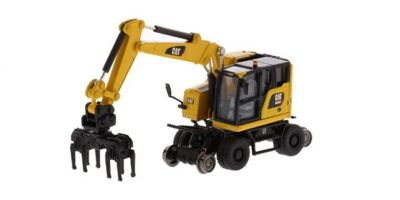 DIECAST MASTERS 1/87scale Cat M323F Railroad Wheeled Excavator  [No.DM85612]
