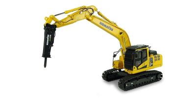 UNIVERSAL HOBBIES 1/50scale Komatsu PC210LC-II with Hammer Drill  [No.E8140]