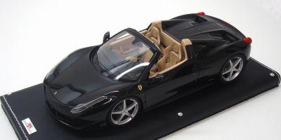 MR Collection 1/18scale FERRARI 458 Spider Nero Stellato / Black [No.FE06B]