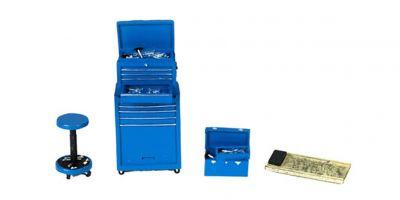 MOTOR HEAD MINIATURES  1/24scale Tire Bridge Shop Tool Set (Blue)  [No.FPM192]