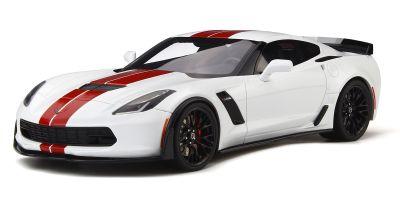 GT SPIRIT 1/18scale Chevrolet Corvette Z 06 (C 7) (White / Red) [No.GTS214]