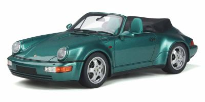GT SPIRIT 1/18scale Porsche 911 (964) Convertible Turbo Look (Green)  [No.GTS294]