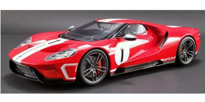 GT SPIRIT 1/18scale Ford GT Heritage Edition No.1 (Red / White Stripe) US Exclusive  [No.GTS008US-A]