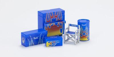 HOBBY GEAR 1/24scale Dream Garage 1 [ ボスチュアー、オイルドラム缶、ツール、ボックス 大/小 ] [No.HB16050]