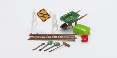 HOBBY GEAR 1/24scale Landscaping [ ロードサイン、ネコ、はしご、スコップ、ハンマー 他 ] [No.HB16053]