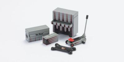 HOBBY GEAR 1/24scale Dream Garage 2 [ ツールボックス 大/小、フロアジャック、スライダー ] [No.HB16056]