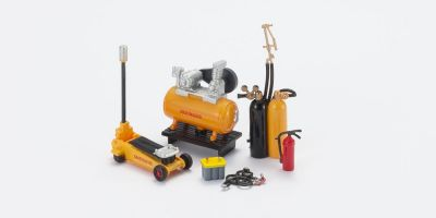 HOBBY GEAR 1/24scale Mechanic 2 [ コンプレッサー、フロアジャック、バッテリー、溶接トーチ 他 ] [No.HB16059]